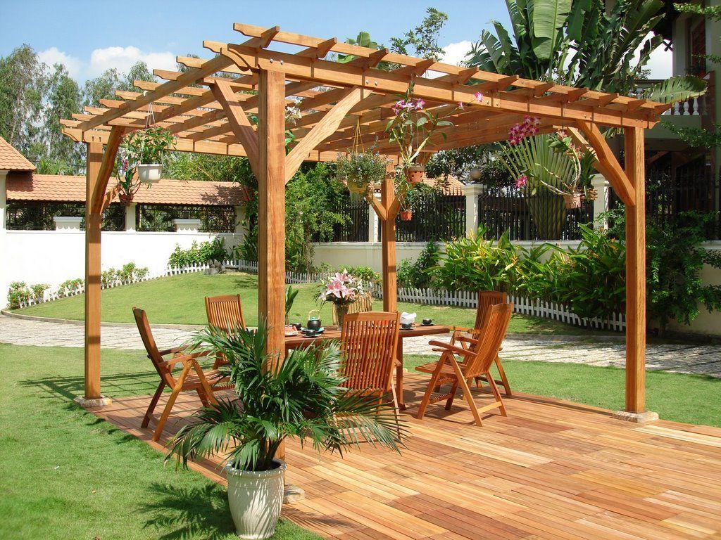 Tee ise: puidust päikesevari aeda