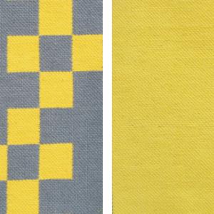 1 puuvillane vaip hall-kollane