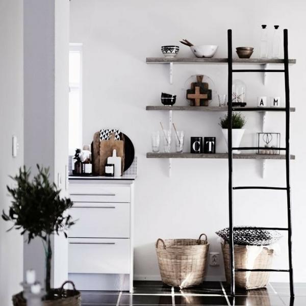 Skandinaavia stiil: puidust redel