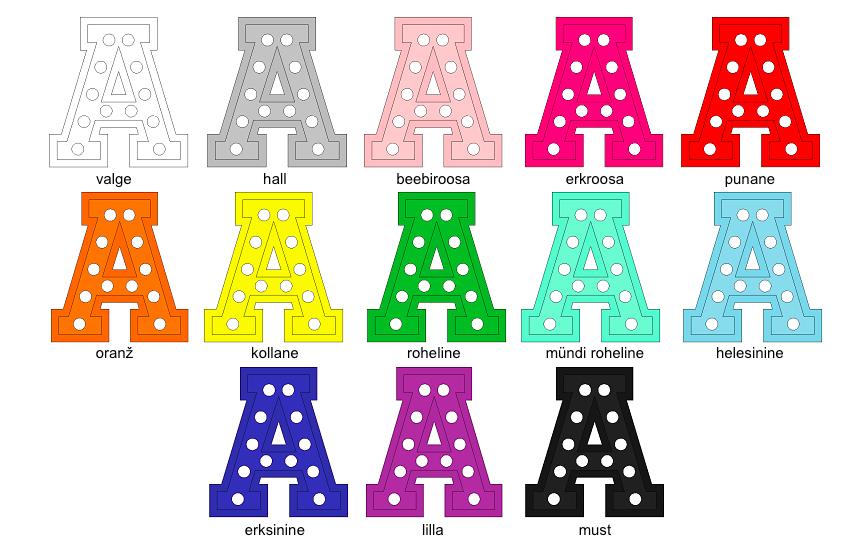 Puidust lamp täht värvivalikud