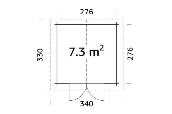 Aiamaja Lotta 7,3 m²